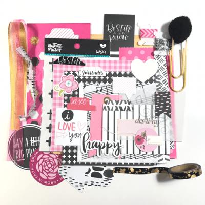 Pink & Black Embellishment & Extras Kit