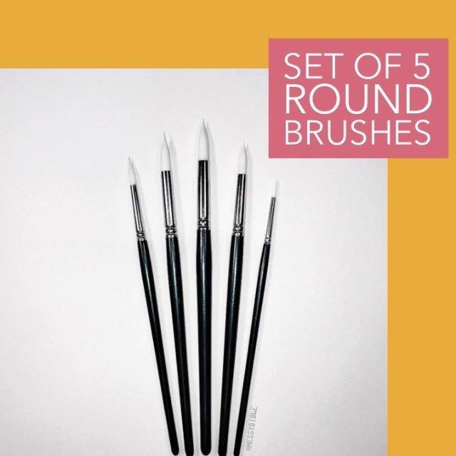 Round Brushes - set of 5 3002