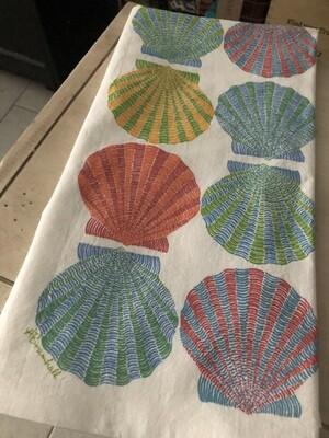 Scallop Shells Flour Sack Towel