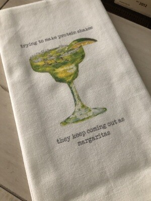 Protein Shakes Dish Towel