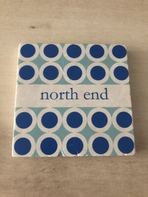 North End Colorful Marble Coaster