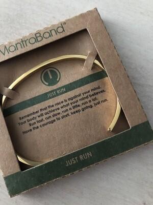 Mantra Band Bracelet - Just Run - Gold