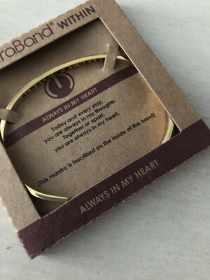 Mantra Band Bracelet - Always In My Heart - Gold