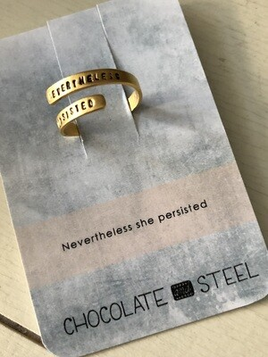 Nevertheless She Persisted Ring
