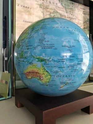 Mova Globe - Relief Map Blue - 6