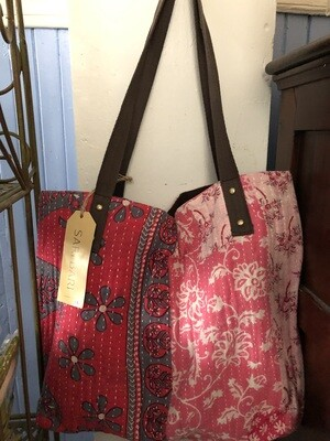 Sammana Tote Bag - Red & Pink