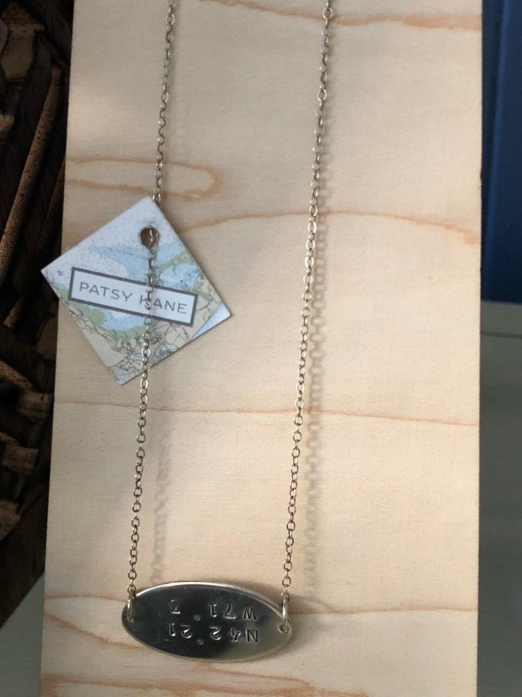 Horizon Necklace With North End Coordinates