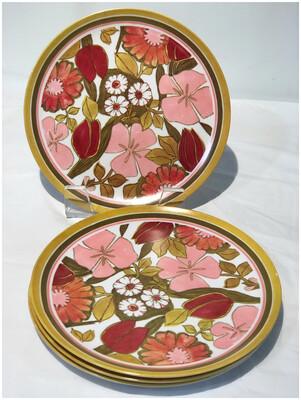 1960's Brookpark Flower Power Picnic Plates