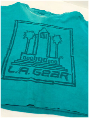 Vintage L.A. Gear Crop Top Tee