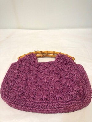 Vintage Woven Bamboo Clutch