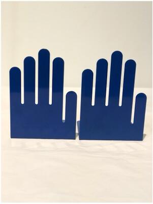 Metal Pop Art Hand Bookends