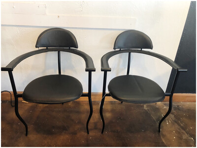 80's Post Mod Squiggle Leg Chairs