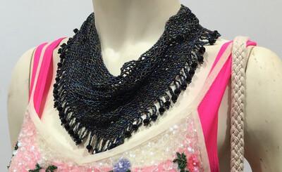 Handmade Beaded Collar Necklace & Earrings