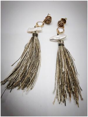 Mother Of Pearl Fringe Earrings