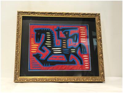 1970's Framed Kuna Mola Framed Art