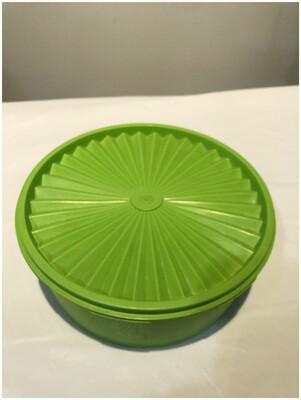 Vintage 1970's Apple Green Tupperware Servalier Container