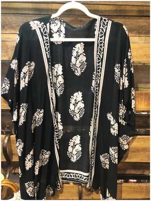 Women's Print Lightweight Open Poncho Cover Up