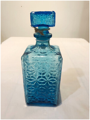 Aqua Glass Decanter