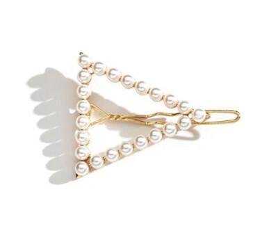 Triangle Pearl Hair Clip