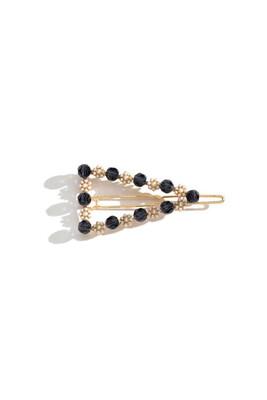 Bead & Pearl Triangle Hair Clip