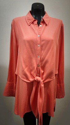 Modern Tunic Dress/Shirt With Front Tie