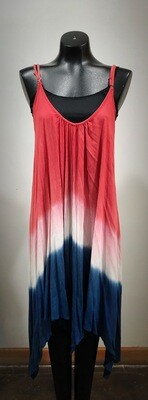 Modern Red White & Blue Tank Summer Dress