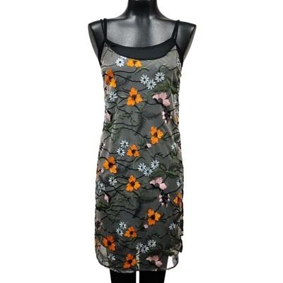 Modern Sheer Floral Embroidered Slip Dress