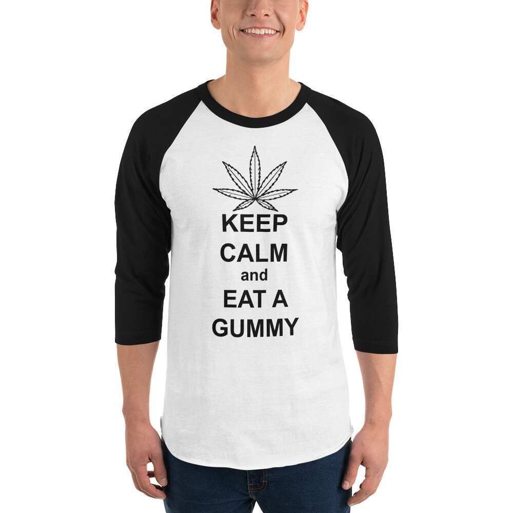 Eat a Gummy 3/4 sleeve raglan shirt