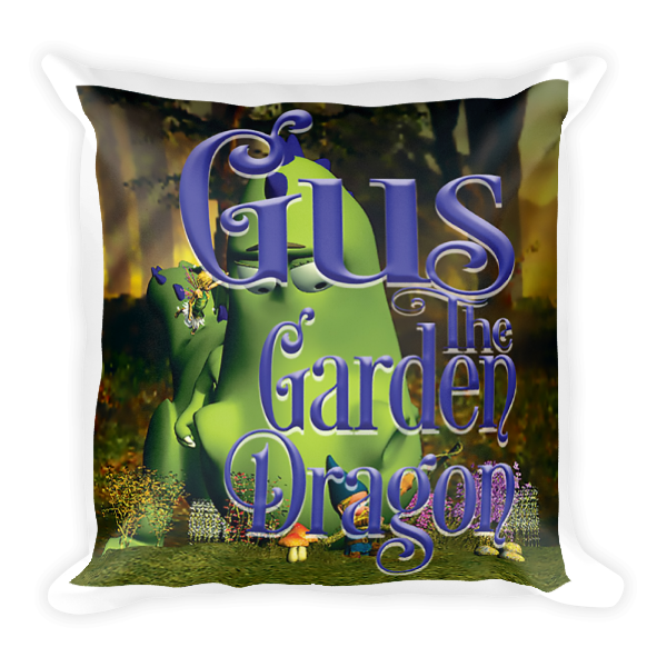 Gus the Garden Dragon Square Pillow 00031