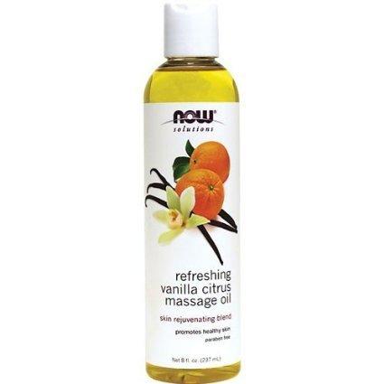 Now Solutions-Refreshing Vanilla Citrus Massage Oil Skin Rejuvenating Blend 8 fl.oz