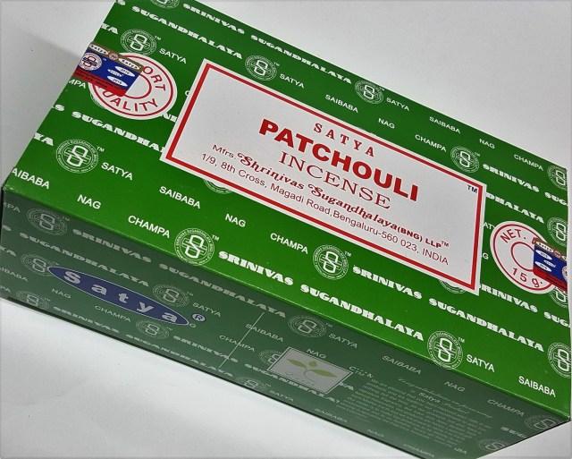 Satya Patchouli Incense Box 15 Grams(180 Sticks)