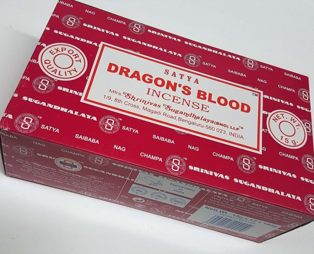 Satya Brand Incense -Drangon's Blood Incense 15 Grams Big Box (180 Sticks)