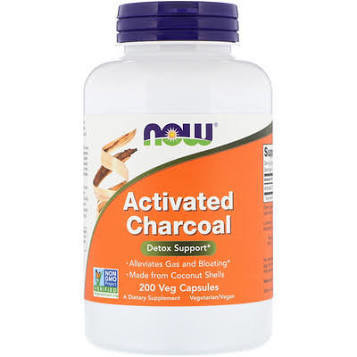 NOW Activated Charcoal (Capsule Form)