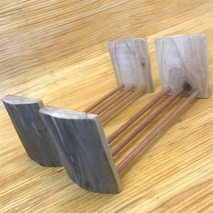 Matching Wooden Book Racks