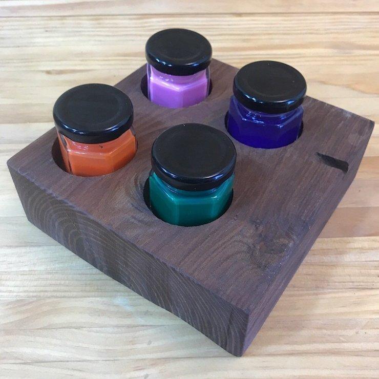 Paint Pot Holder--Square