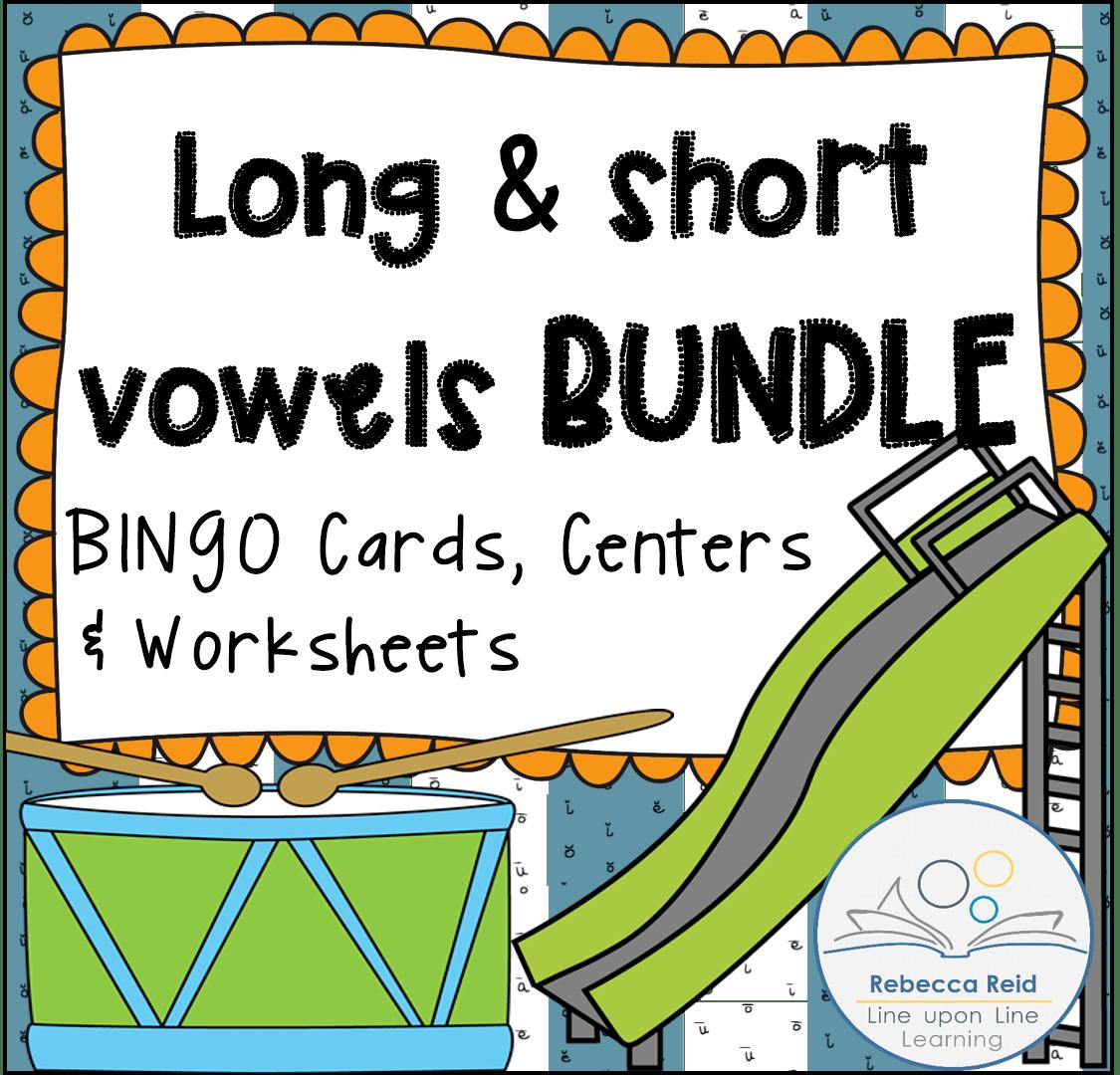 Long Vs Short Vowels Bundle Bingo Game Cards Amp Practice