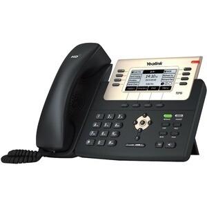 Yealink SIP-T27G IP Phone - Corded - Wall Mountable, Desktop - VoIP - Caller ID - Speakerphone - 2 x Network (RJ-45) - USB - PoE Ports - SIP, RTCP XR, LDAP, SIP v2, NAT, STUN, DHCP, SNTP, UDP, SRTP, T