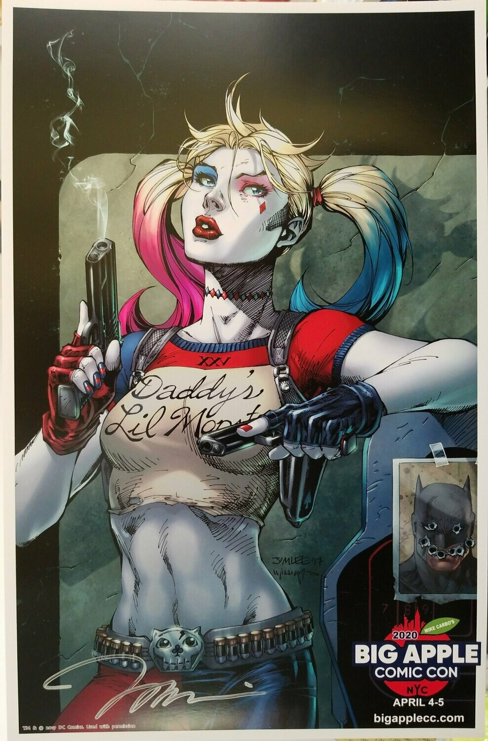 Jim Lee Autographed Daddy's Little Monster Poster