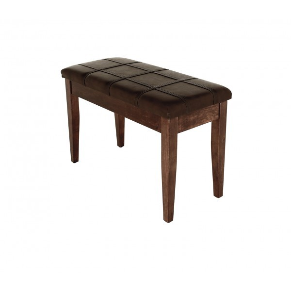 Dolce - Piano Stool with Music Book Storage - Polished Walnut