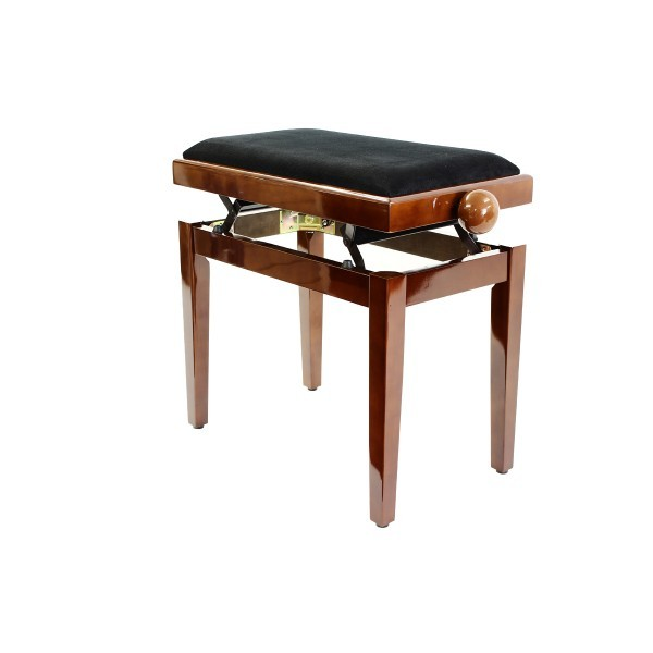 Legato - Adjustable Piano Stool - Polished Walnut