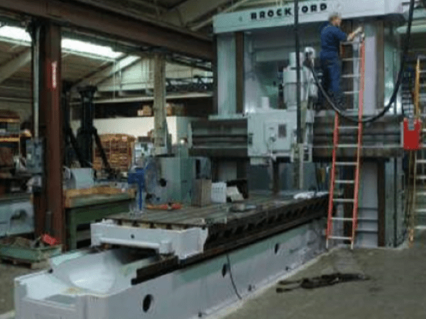 """1 – USED 60"""" X 78"""" X 14' ROCKFORD DOUBLE HOUSING ADJUSTABLE RAIL MILLING MACHINE (PLANER MILL) C-5734"""