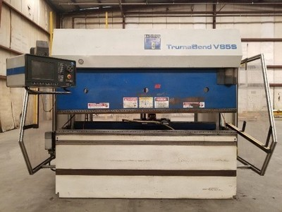 1 – USED 95 TON TRUMPF TRUMABEND V85 6-AXIS HYDRAULIC PRESS BRAKE`