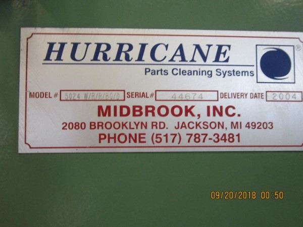1 – USED MIDBROOK HURRICANE BELT WASHER ALL STAINLESS