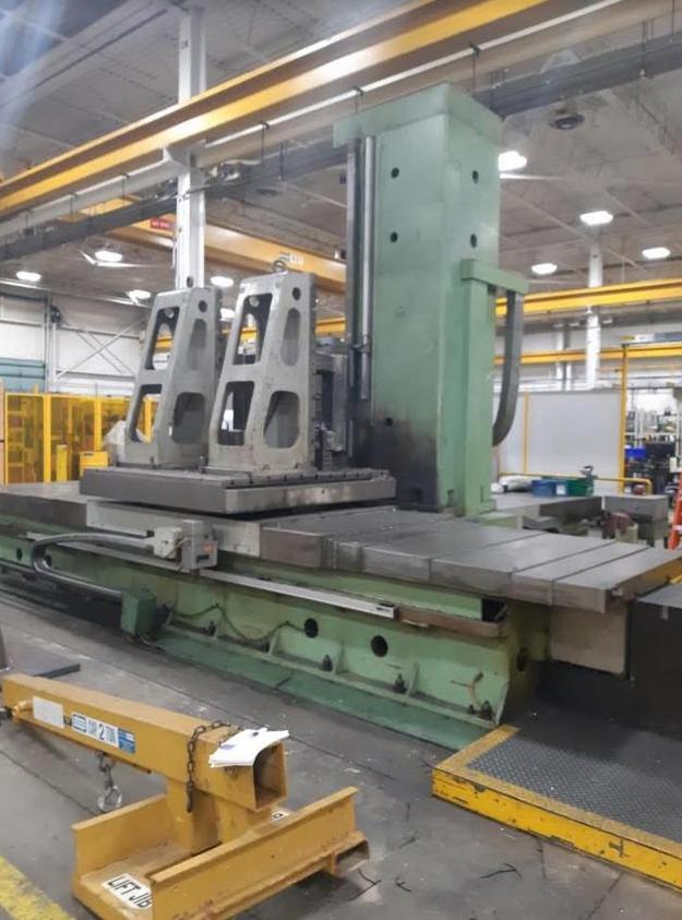 """1 – USED 5.1"""" TOS WHN-13.8A ROTARY TABLE MANUAL HORIZONTAL BORING MILL C-5778"""