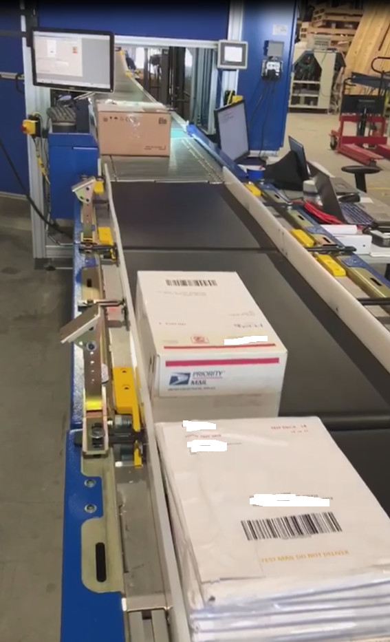 1 – NEW BELL HOWELL SEMI-MANUAL PARCEL SYSTEM