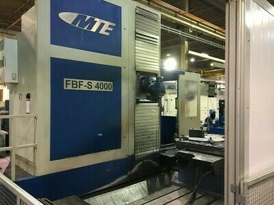"1 - USED MTE 47"" X 157"" 5-AXIS FBF-S 4000 FLOOR TYPE CNC UNIVERSAL MACHINING CENTER"