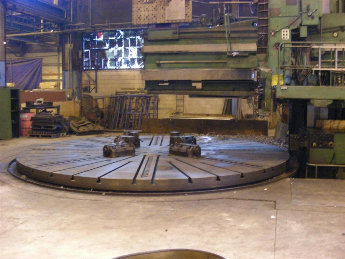 "1 - USED 252""/468"" SCHIESS MANUAL VERTICAL BORING MILL C-3510"