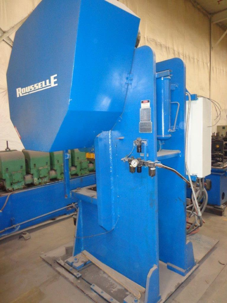 1-USED 66 TON ROUSSELLE FLYWHEEL GAP TYPE POWER PRESS
