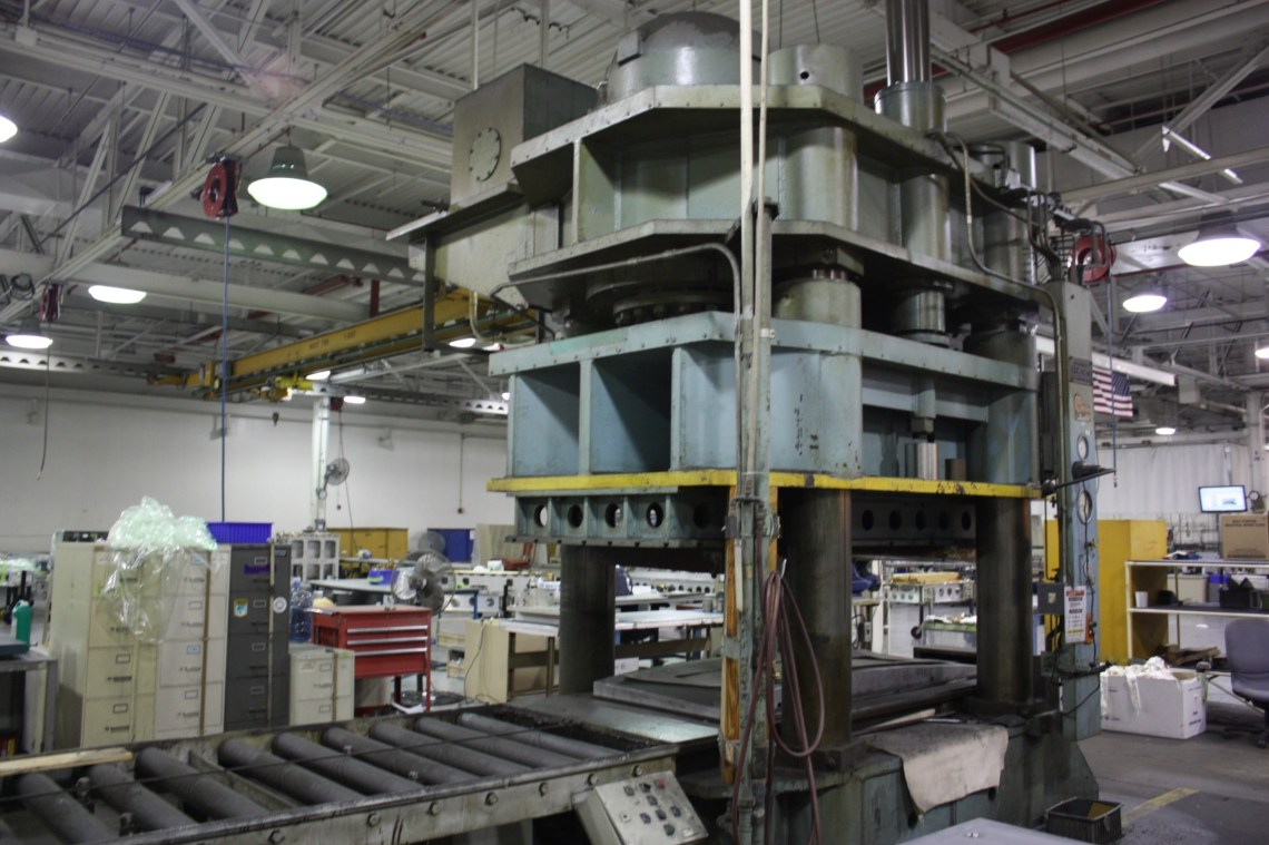 1 – USED 2000 TON K.R. WILSON DOWN ACTING HYDRAULIC PRESS