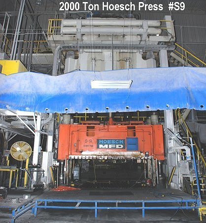 1 - USED 2000 TON SMC HYDRAULIC DOWN ACTING PRESS